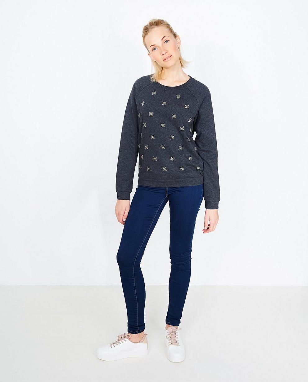 Sweater met pailletten - in blauw - JBC